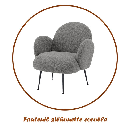 Fauteuil silhouette corolle