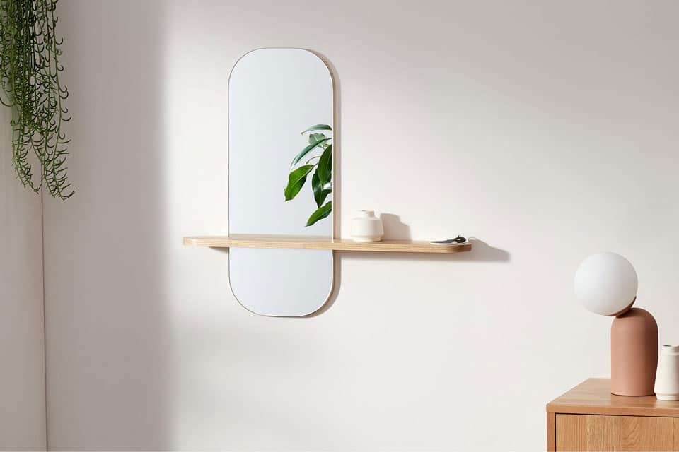 miroir avec rangements