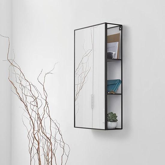 Miroir avec 3 étagères cachées