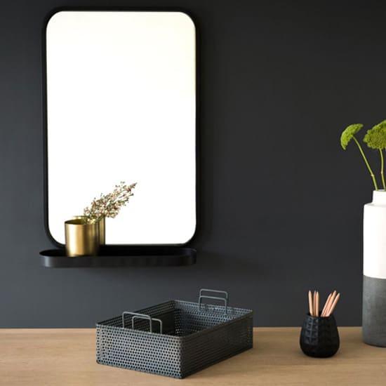 Miroir avec rangements compact