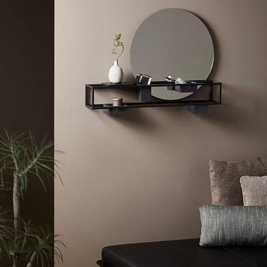 Miroir avec boîte de rangements amovibles