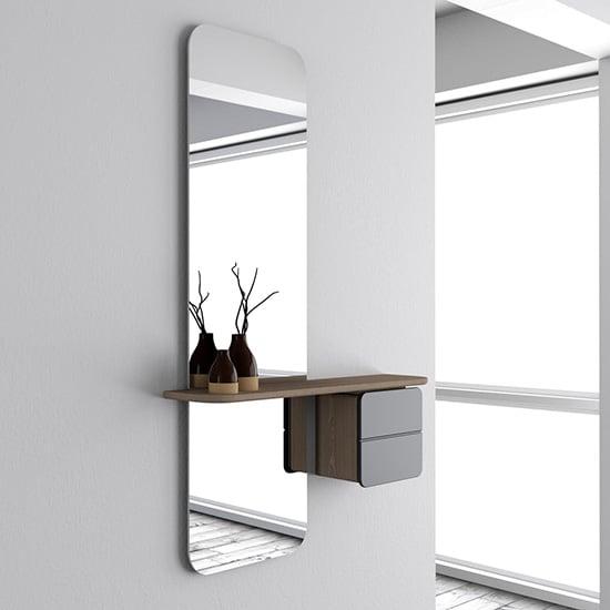 Miroir avec placard intégré