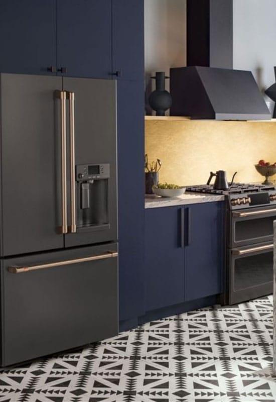 cuisine noire et bleu