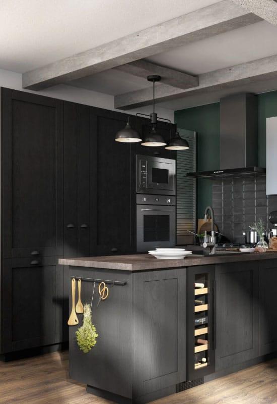 cuisine noire et gris