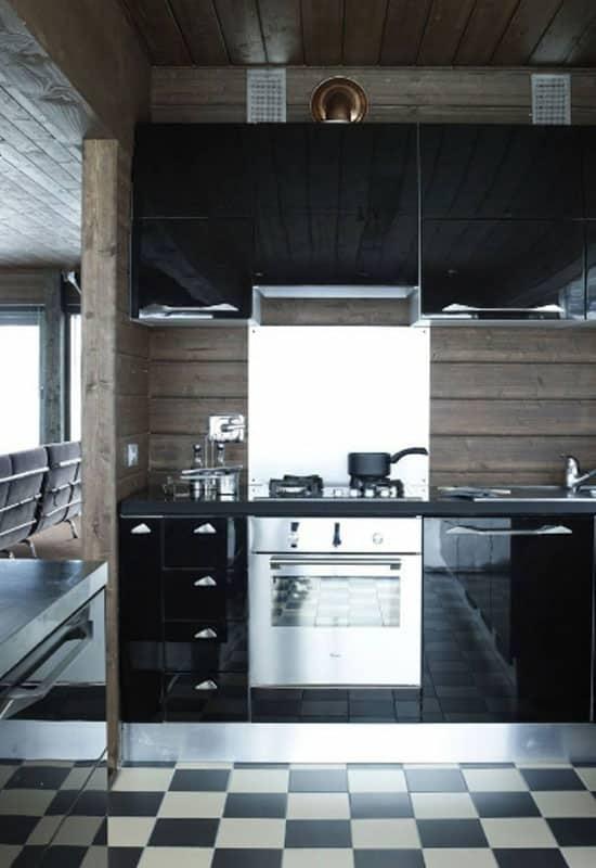 cuisine noire laquée
