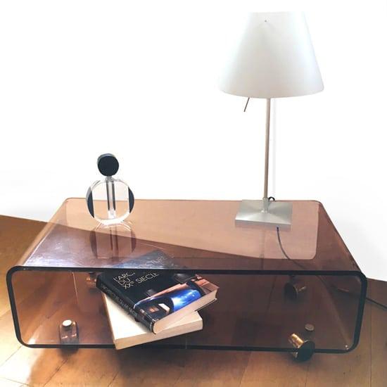 Table basse à roulettes vintage