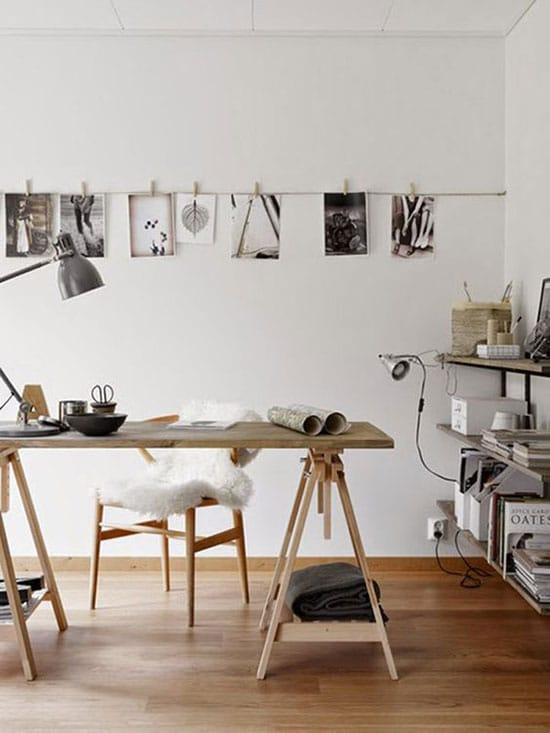 Bureau atelier, minimaliste et zen