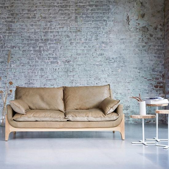 Canapé original en cuir