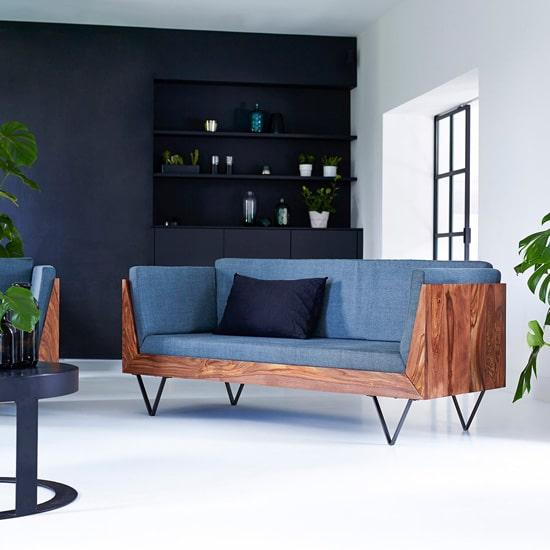 Canapé original en bois massif