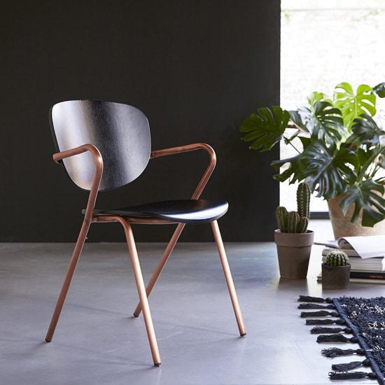 Chaise originale en métal cuivré