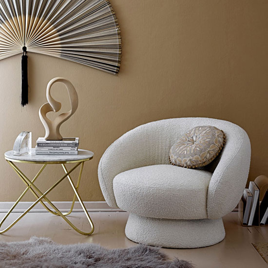 Fauteuil bouclette lounge