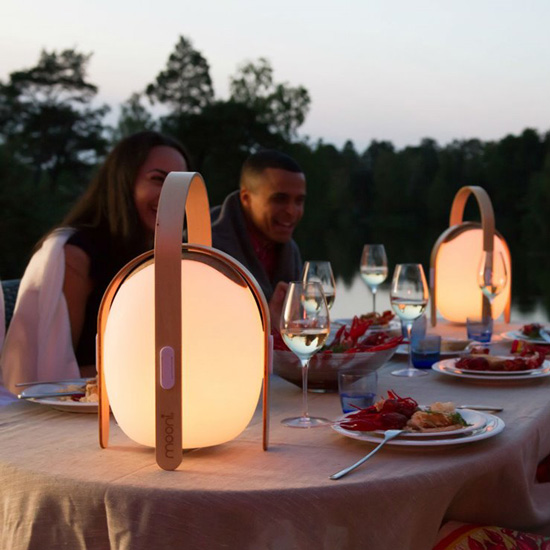 lampe nomade rechargeable avec éclairage coloré