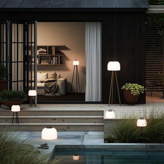 Lampe nomade rechargeable sur trépied