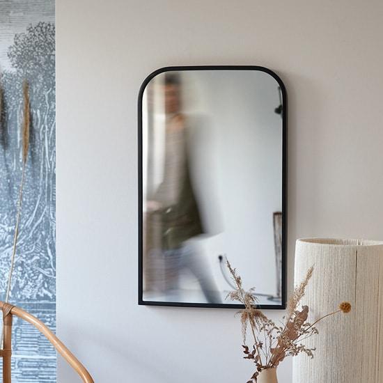 Miroir industriel noir