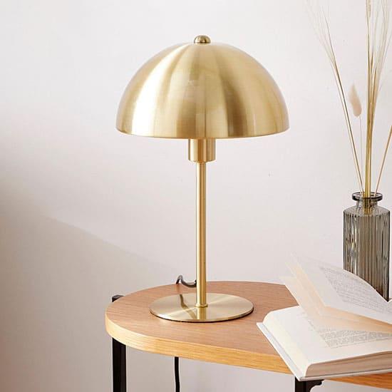 Lampe en laiton, forme champignon