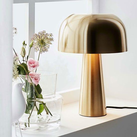 Lampe en laiton, style années 50