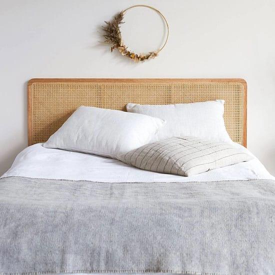 Idée tête de lit en cannage