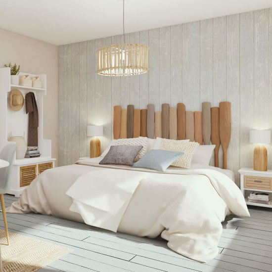 Idée tête de lit avec des rames