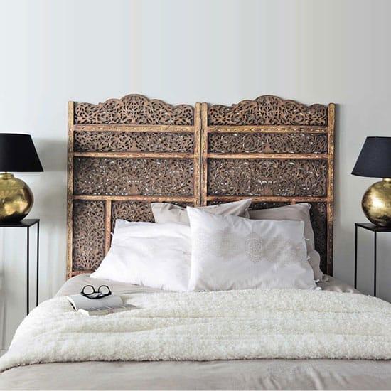Idée tête de lit avec un paravent