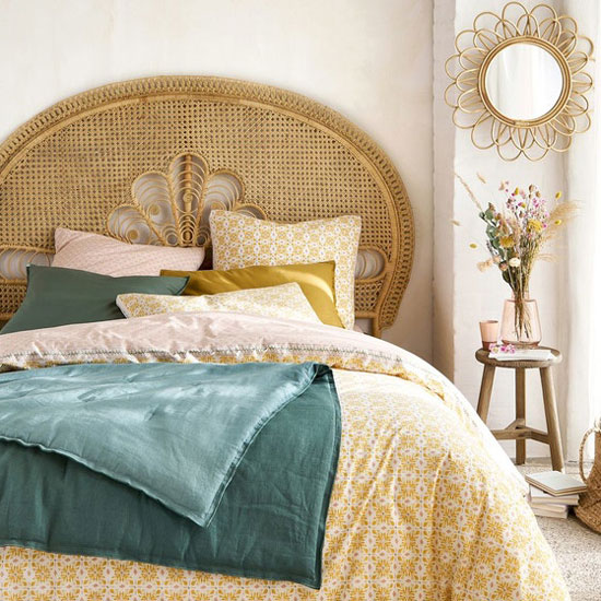 Idée tête de lit en rotin