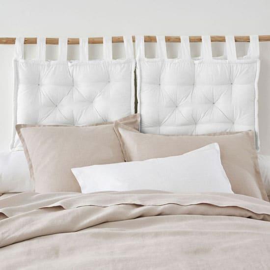 Idée tête de lit coussins
