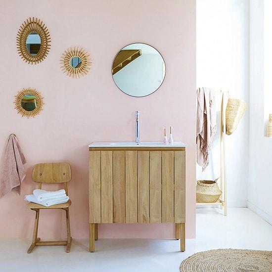 Meuble de salle de bain vintage en teck