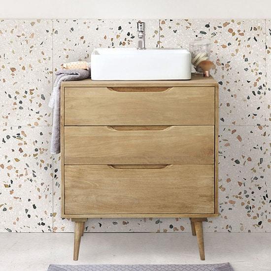 Meuble de salle de bain vintage