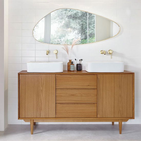Meuble de salle de bain vintage scandinave