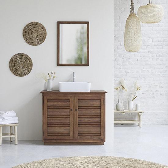 Meuble de salle de bain vintage authentique