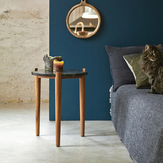 Table de chevet ronde en marbre