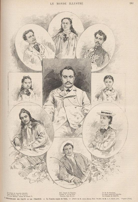 À l'origine du fauteuil Pomare, la famille royale de Tahiti