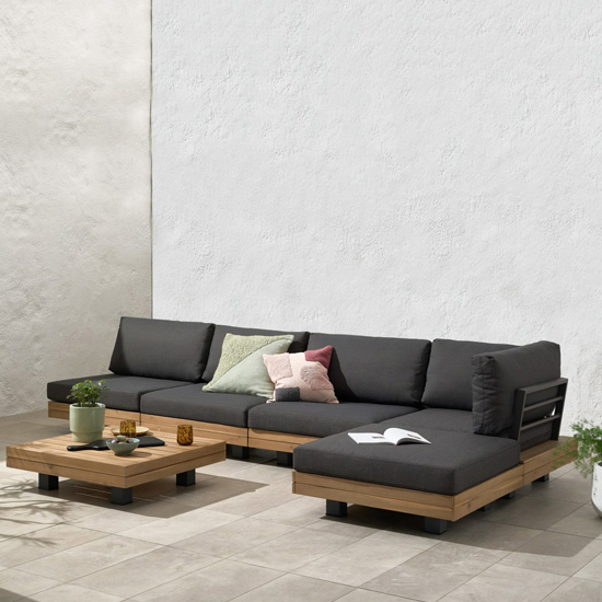 Salon de jardin extérieur modulable